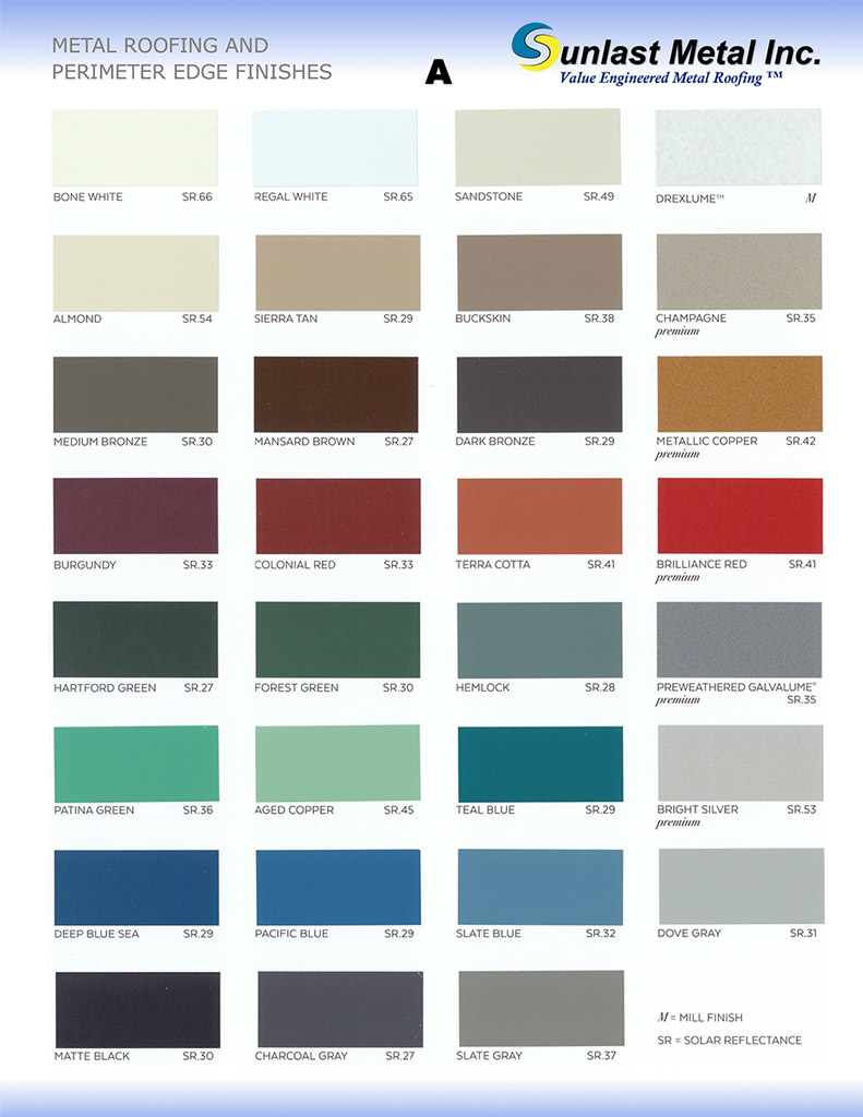 Englert metal roofing color chart best roof 2017 color charts sunlast metal nvjuhfo Image collections